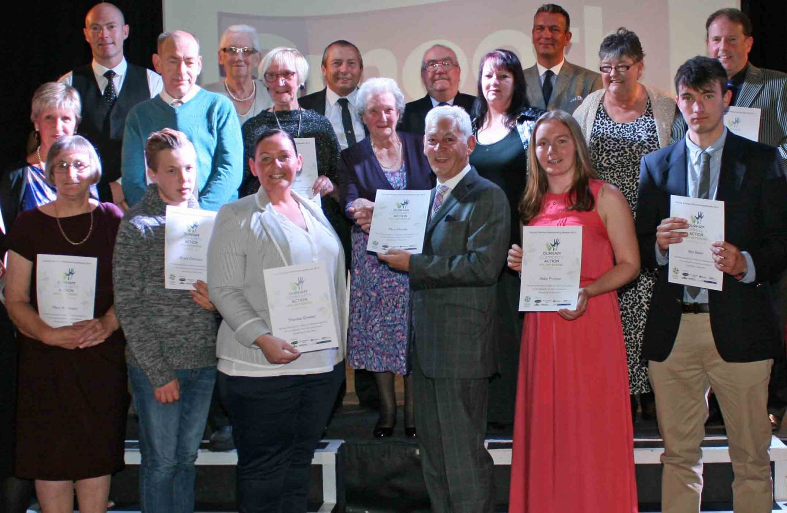 The shortlisted nominees with their certificates, accompanied by Steve Colman from Smooth Radio