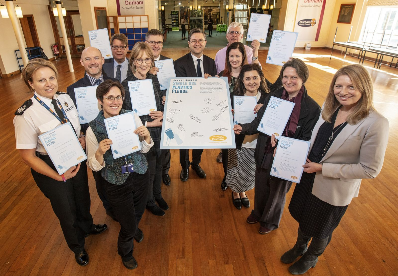 durham community action signs pledge to tackle single use